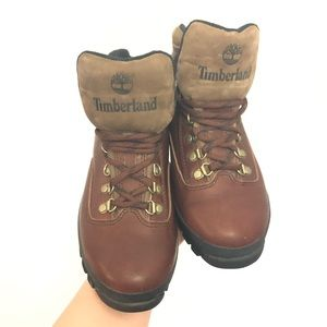 Timberland Eurohiker Brown Leather Boots SZ 7